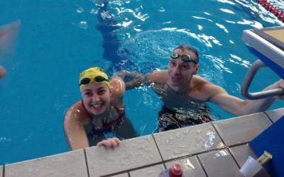 Demény Helga, prima femeie din România care a înotat timp de 24 ore neîntrerupt