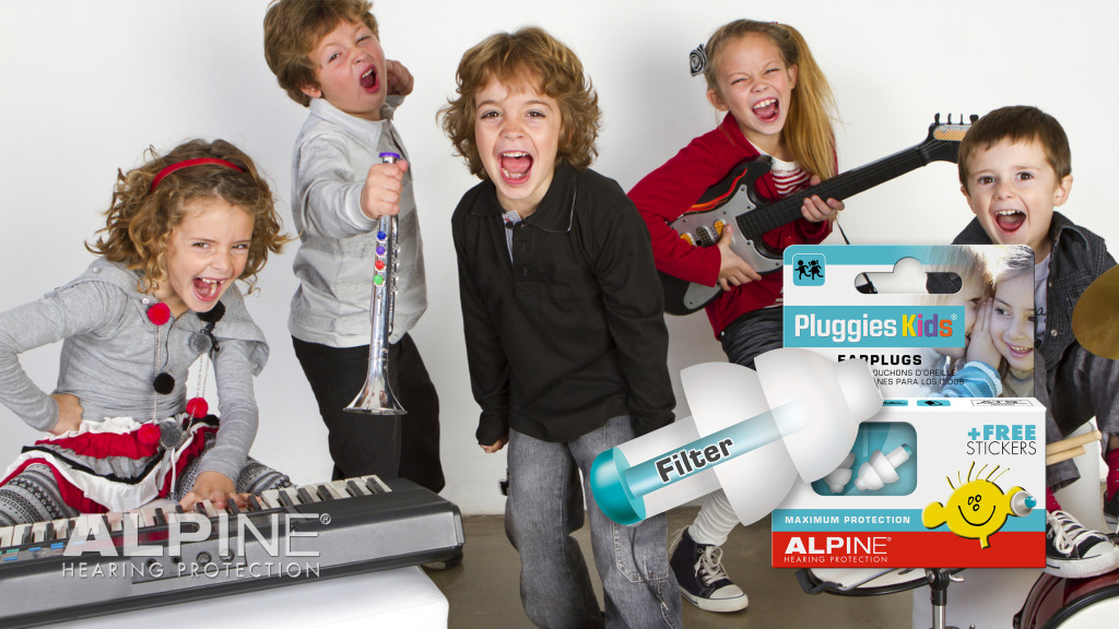 Alpine Pluggies Kids with picture band