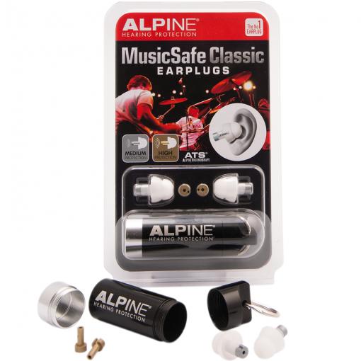 Dopuri de urechi pentru muzica MusicSafe Classic pentru muzicieni cu filtre speciale