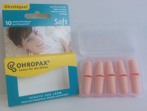 Dopuri de spuma pentru urechi Ohropax Soft 10 bucati
